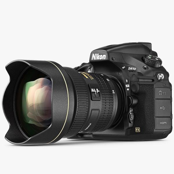 Nikon D810 A 3D Models