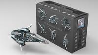 science fiction drone 3D models