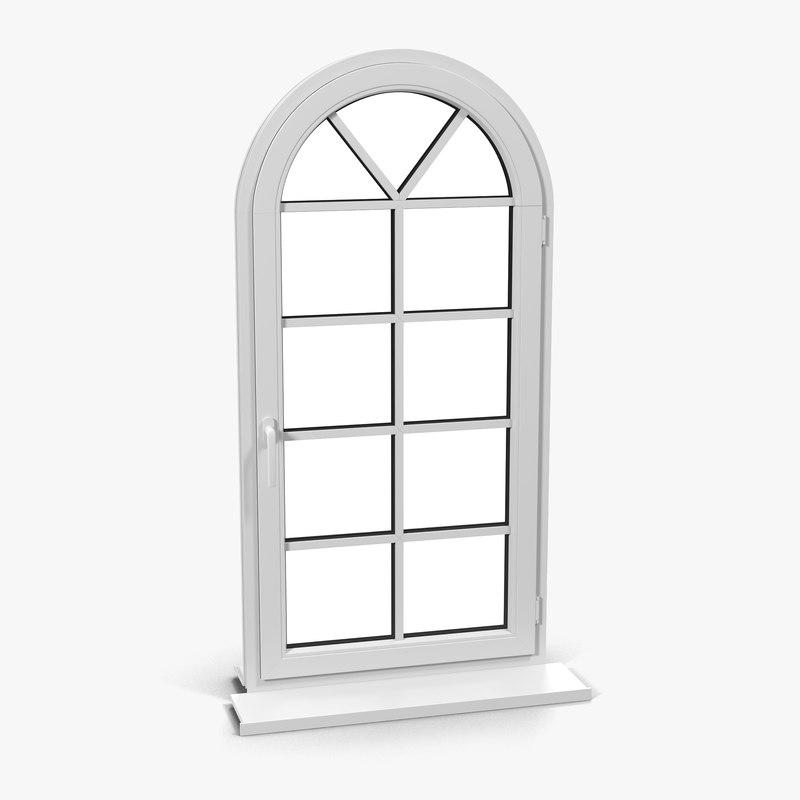 Plastic window 7 3d model for Window 3d model