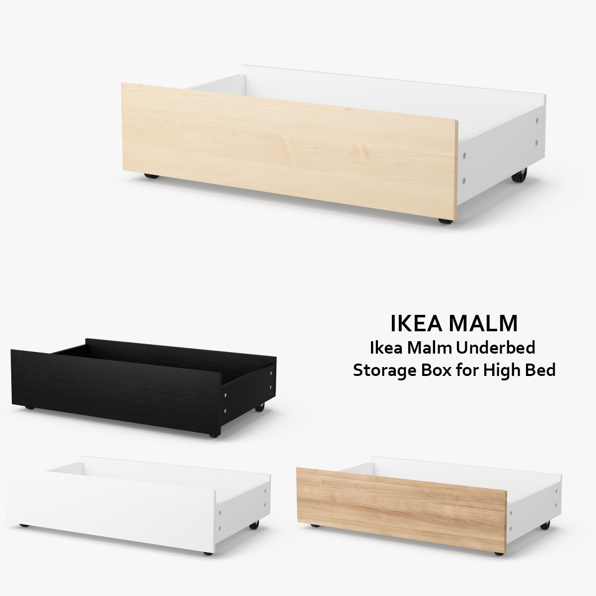 ikea drawers under bed storage. Black Bedroom Furniture Sets. Home Design Ideas