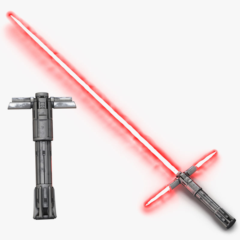 Kylo Ren Lightsaber Used 3d models Set 01.jpg
