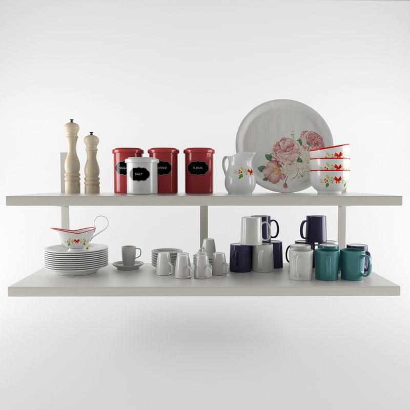 Kitchen set 3d max for Kitchen set 3d warehouse