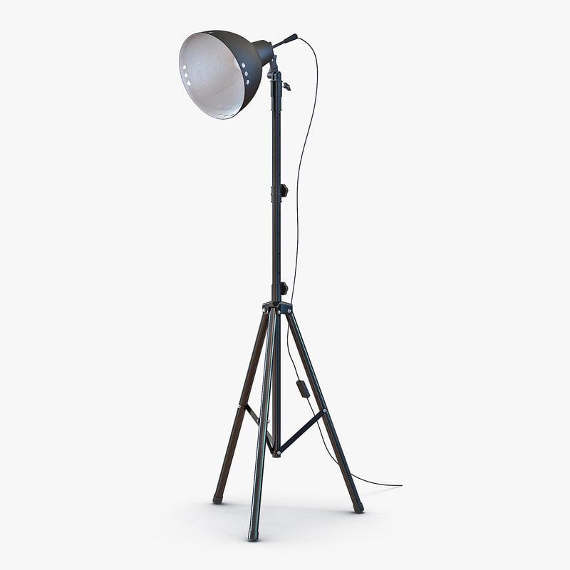 photo studio halogen floor lamp 3d 3ds With halogen spotlight floor lamp