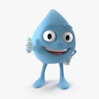 water drop 3D models