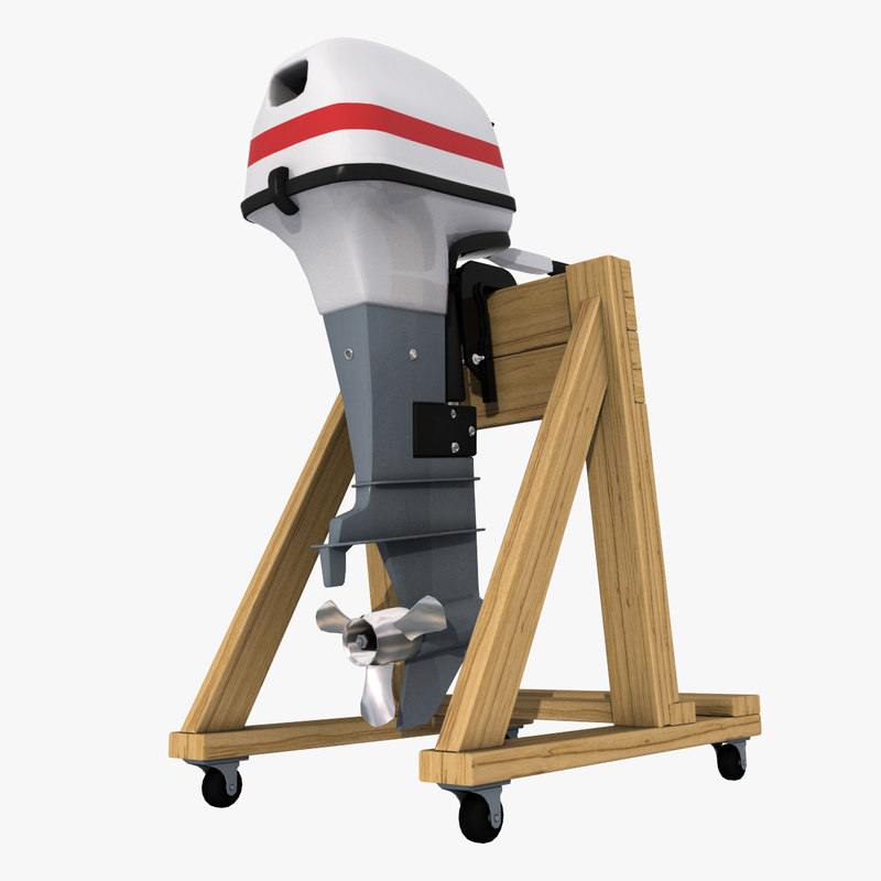 Outboard Engine Stand 3d 3ds