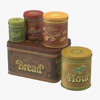 food tin 3D models
