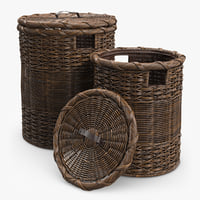 wicker basket 3D models