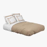 queen bed 3D models