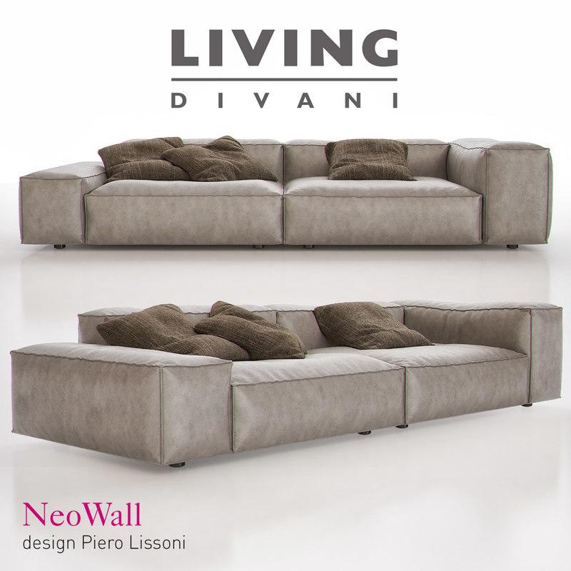 living divani neowall 3d max