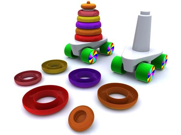 Toy car pyramid 3D Models