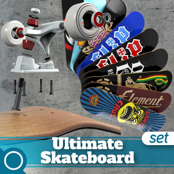 Ultimate Skateboard 3D Models