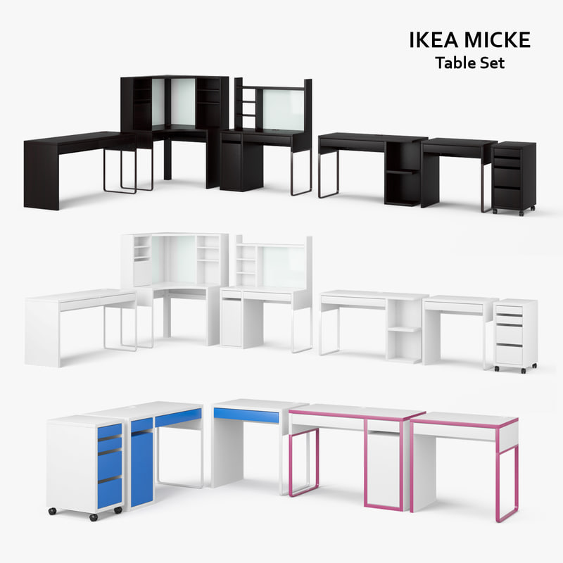 how to set up the micke desk