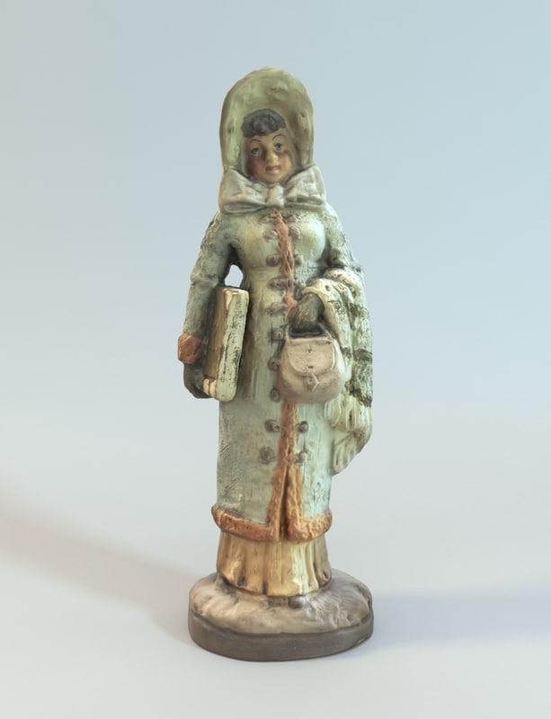 3d model good decorative statue - Statue decorative d interieur ...