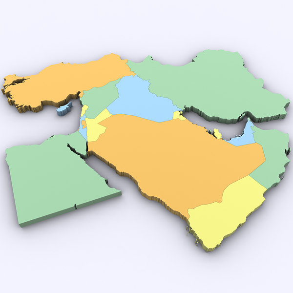 Map of the Middle East 3D Models