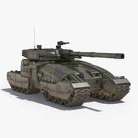 science fiction tank 3D models