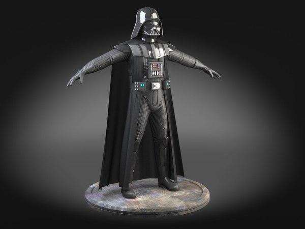 StarWars Darth Vader Rigged for 3dsmax 3D Models