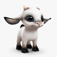 cartoon goat 3D models