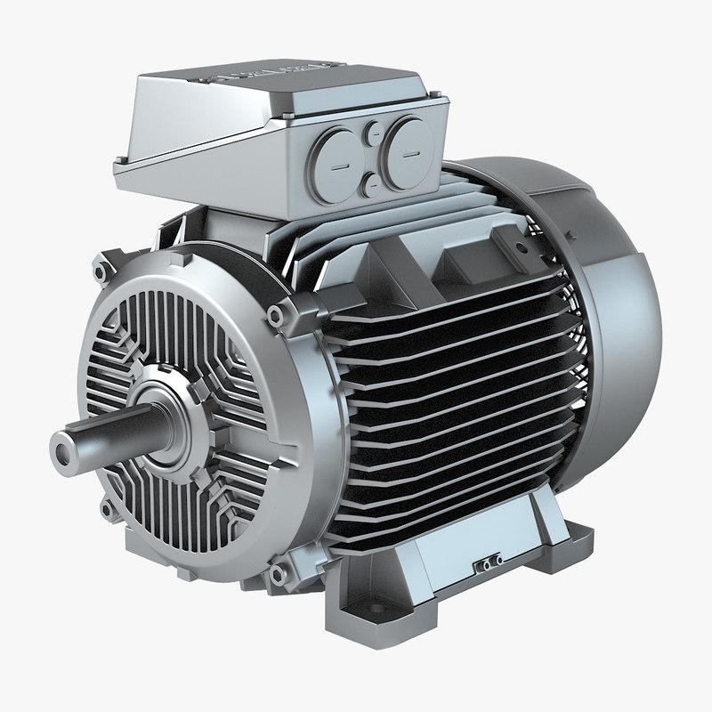 Siemens Electric Motor 3d Model