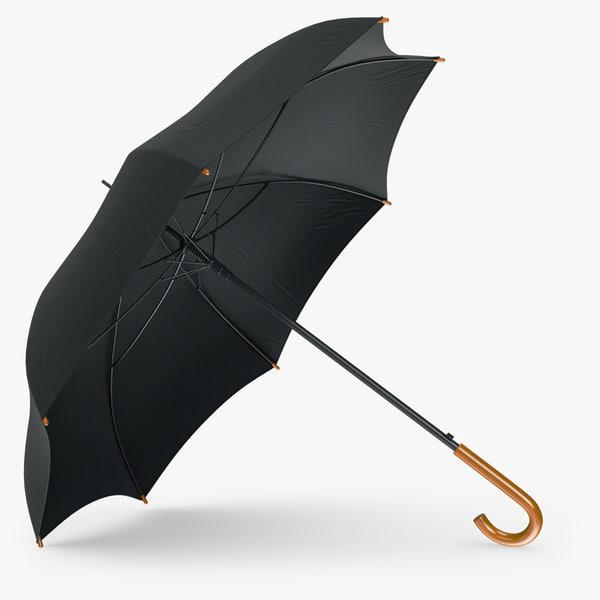 Umbrella Classic Open 3D Models
