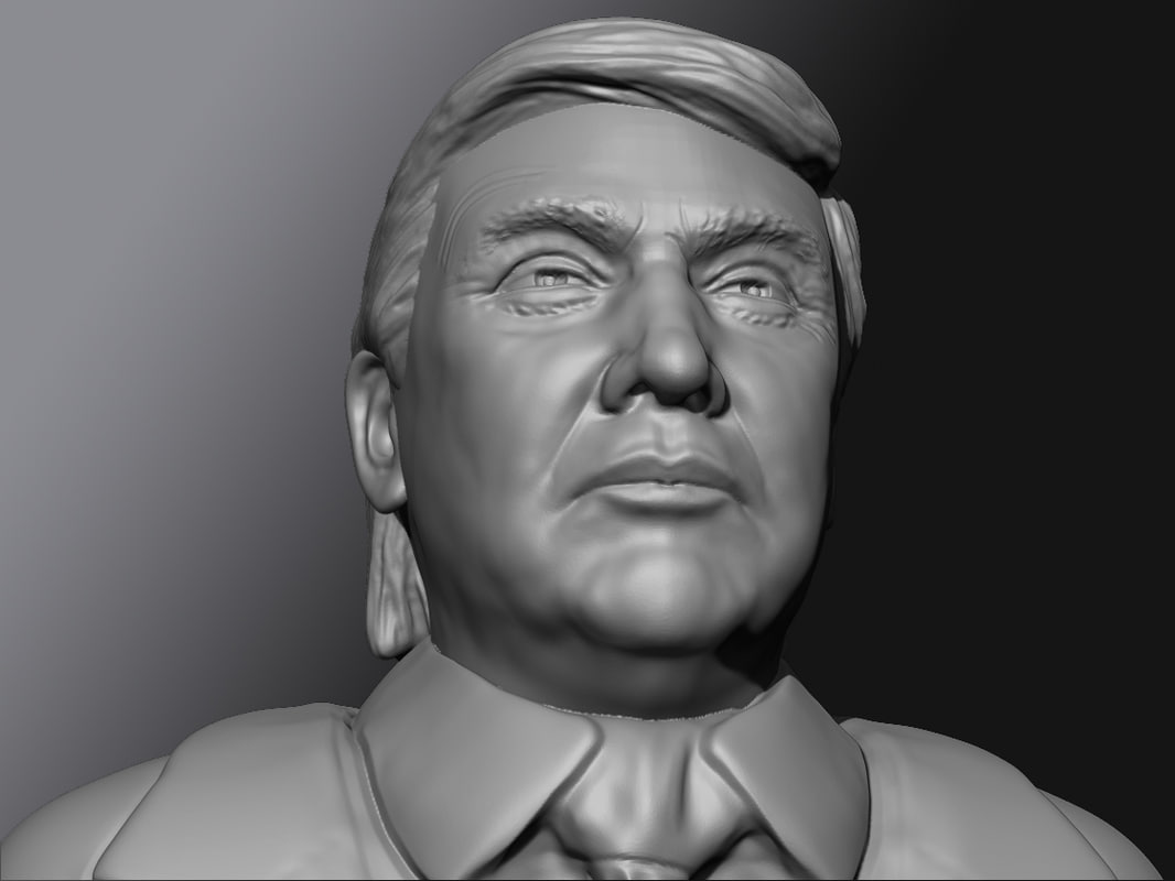 3d model donald trump for Donald model