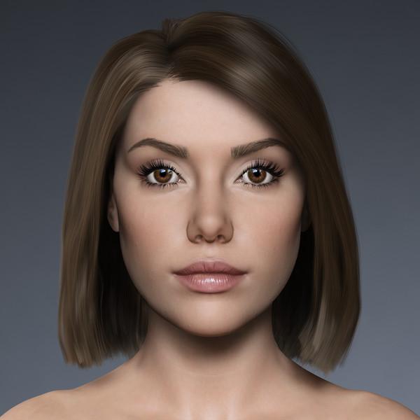 Mel, Nude 3D Models