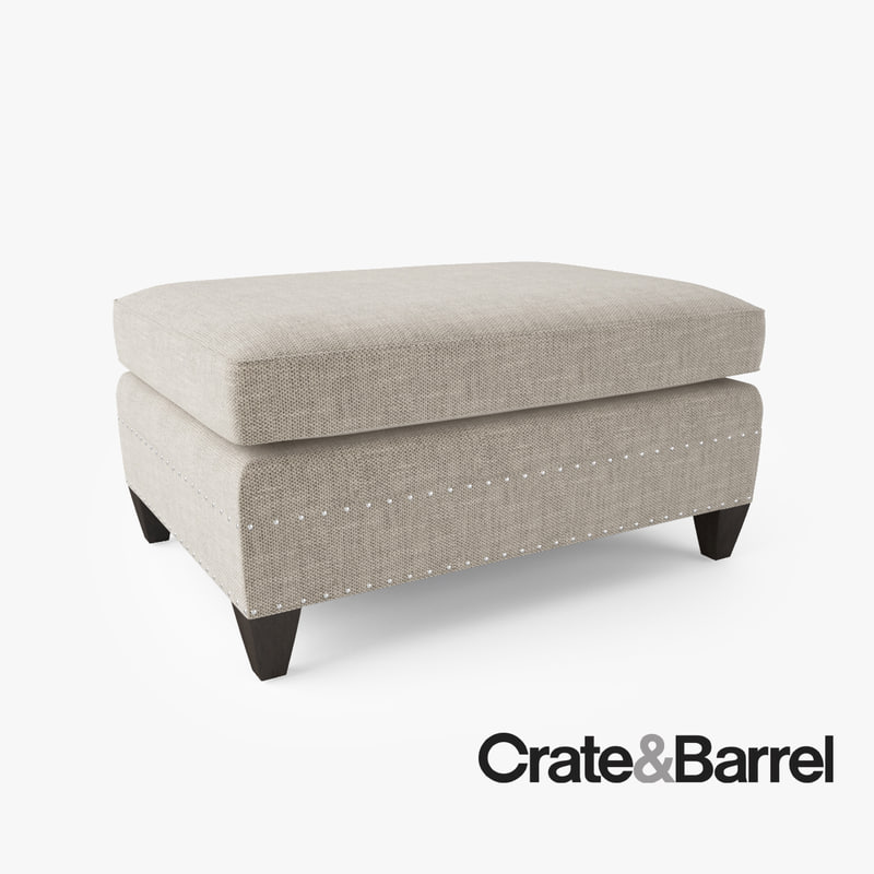 Crate barrel durham ottoman obj for Crate and barrel pouf