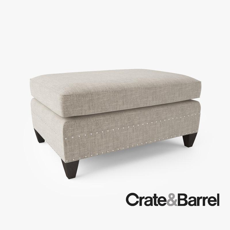 crate barrel durham ottoman obj. Black Bedroom Furniture Sets. Home Design Ideas