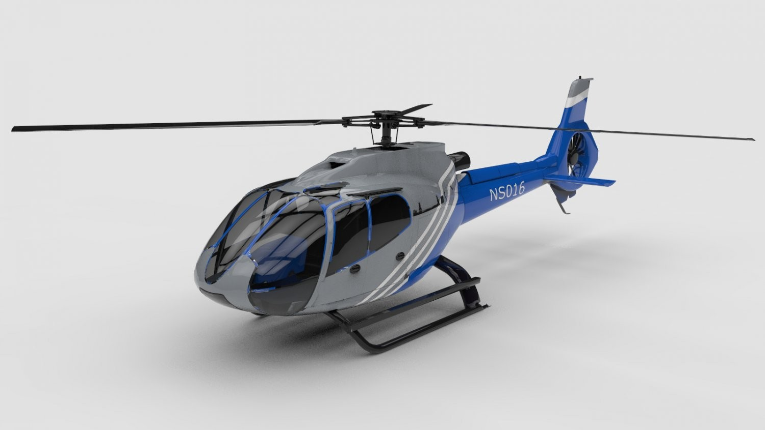 Helicopter Ns016 3d Obj