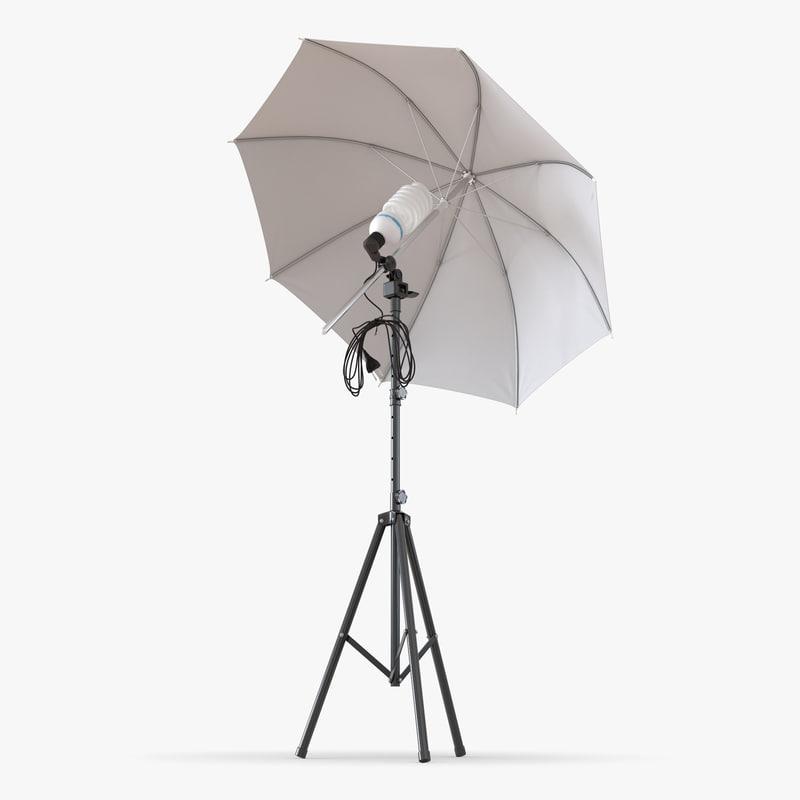 Searched 3d models for Umbrella Light for Umbrella Photography Lights  588gtk