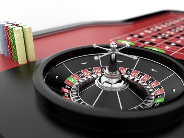 Roulette Table Set 3D Models