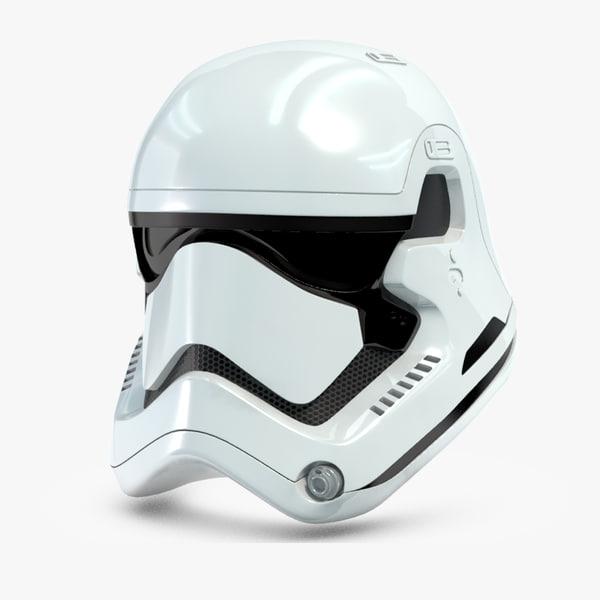 Stormtrooper New Order Helmet 3D Models