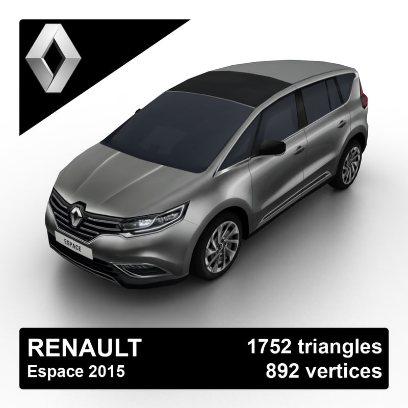 2015 renault espace 3d max. Black Bedroom Furniture Sets. Home Design Ideas
