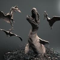 Mosasaurus 3D models