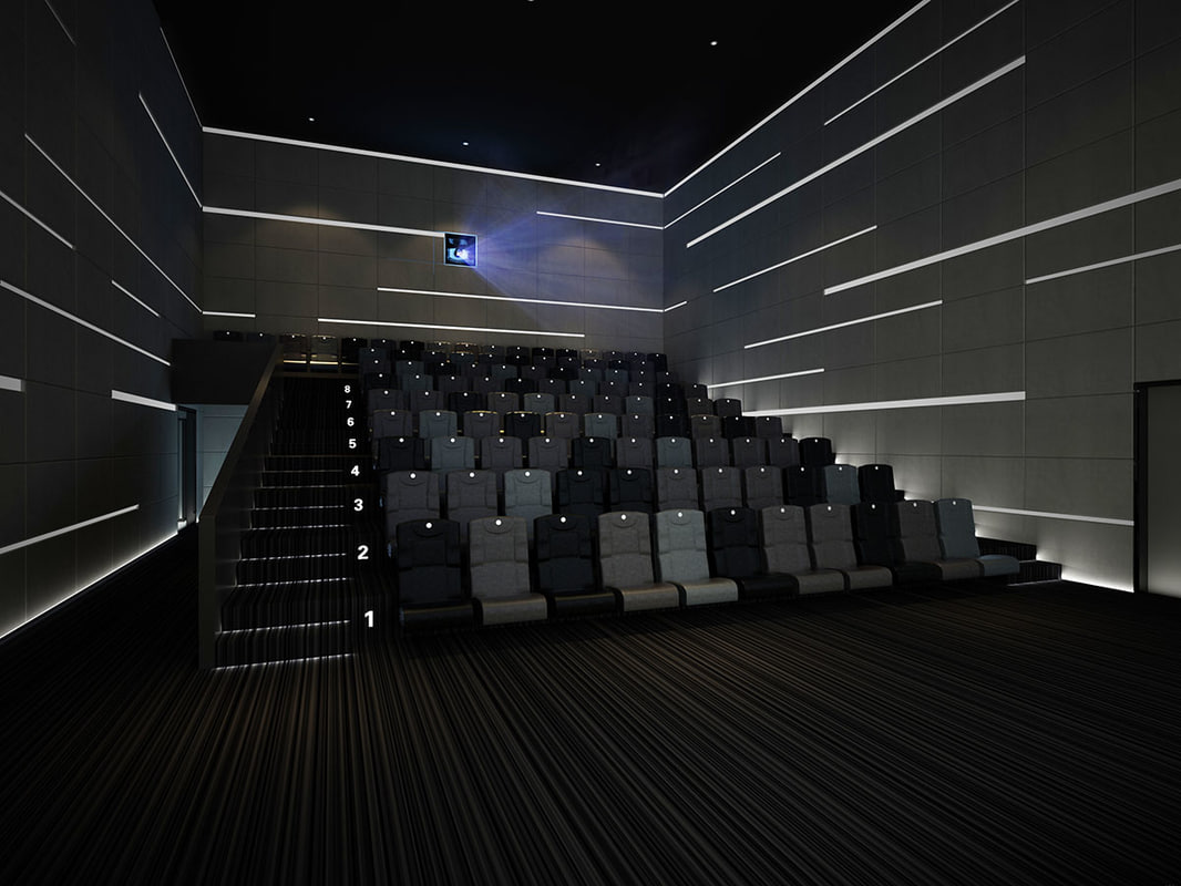 3d model small movie theater for Theatre model