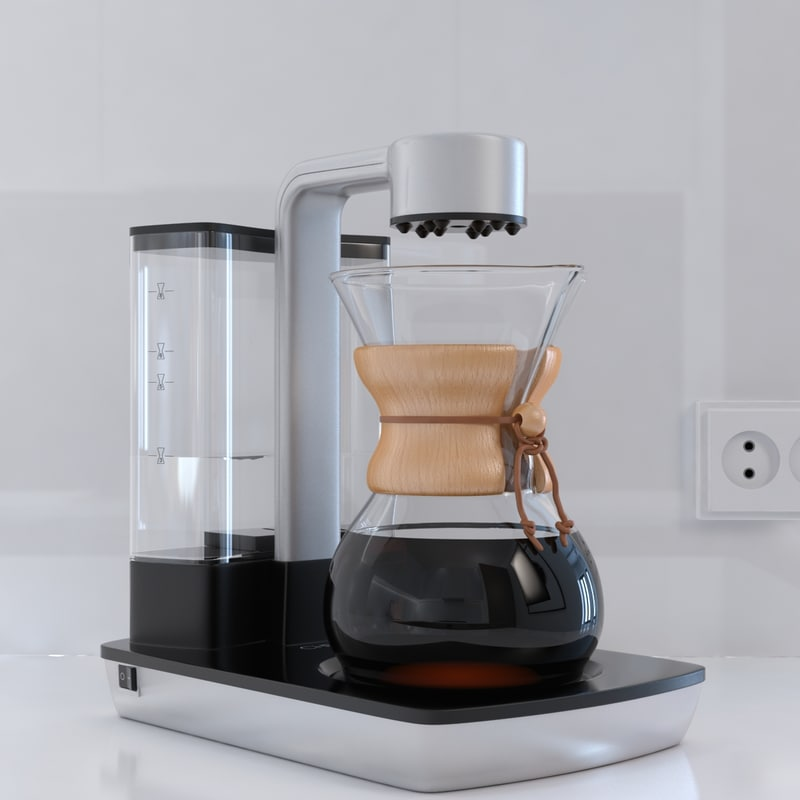 How To Use The Chemex Coffee Maker : 3d chemex ottomatic coffee maker