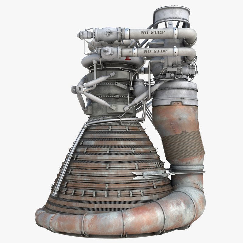 F 1 Rocket Engine 2 3d 3ds