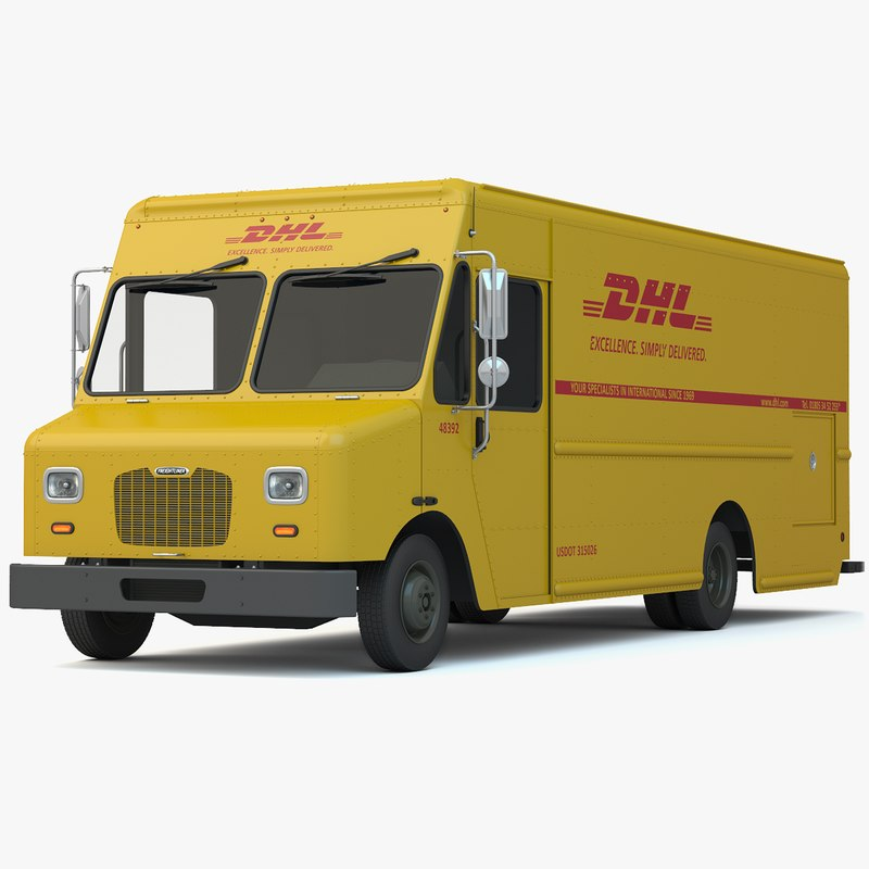 Max Dhl Delivery Truck Van