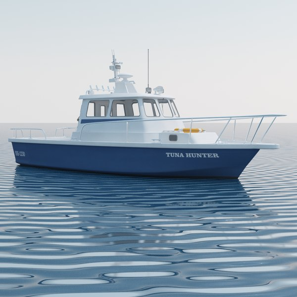 Fishing Motor Boat - Tuna Hunter 3D Models