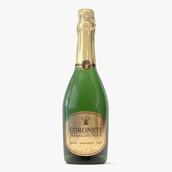 No-name Coroneti Bottle 3D Models