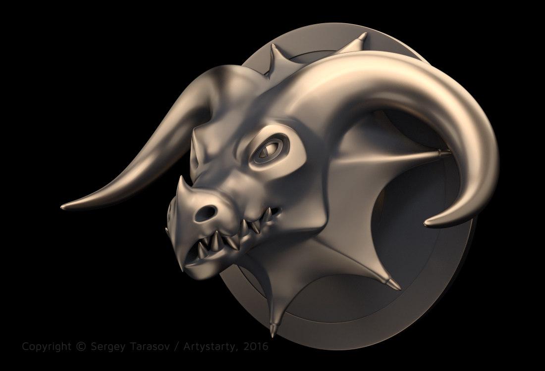 3D-скульптура головы дракона