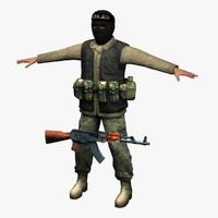 terrorist 3D models