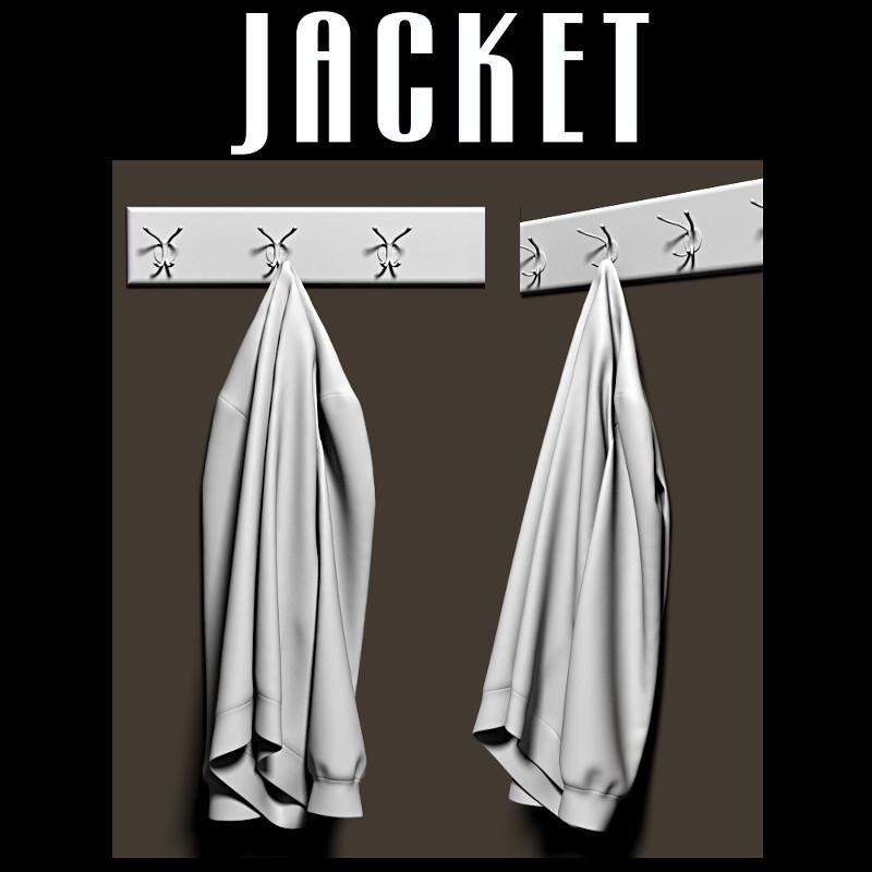 jacket coat rack 3d model