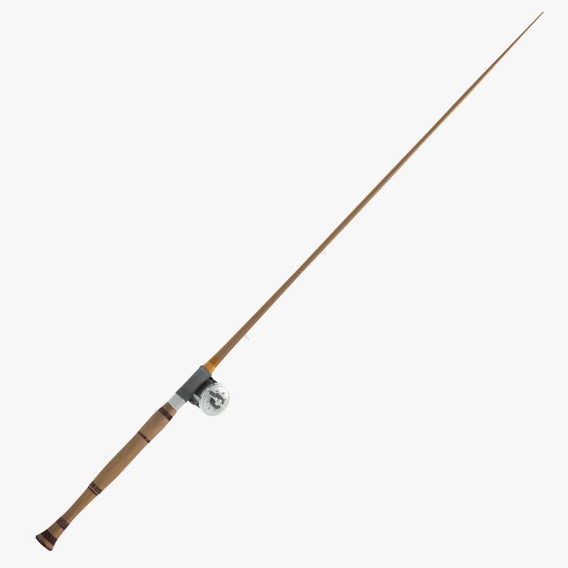 Old fishing pole 3d model for 13 fishing origin c