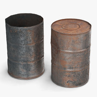 steel barrel 3D models