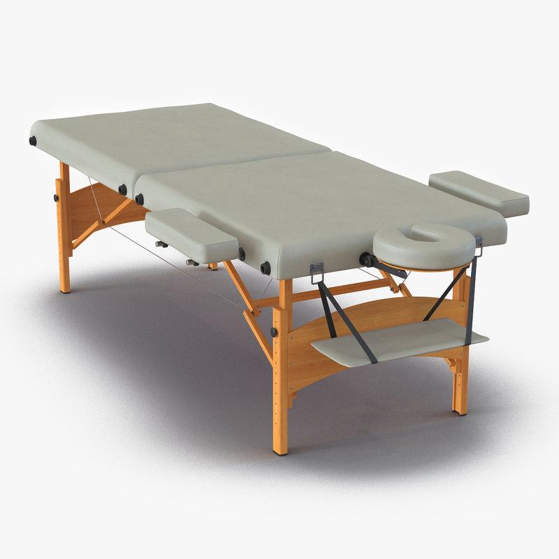 3d model massage table for Table design 3d model