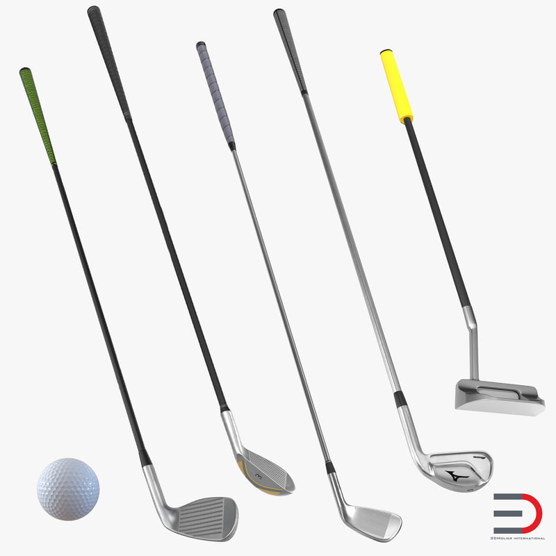 Golf Clubs and Ball Collection 3d models 00.jpg