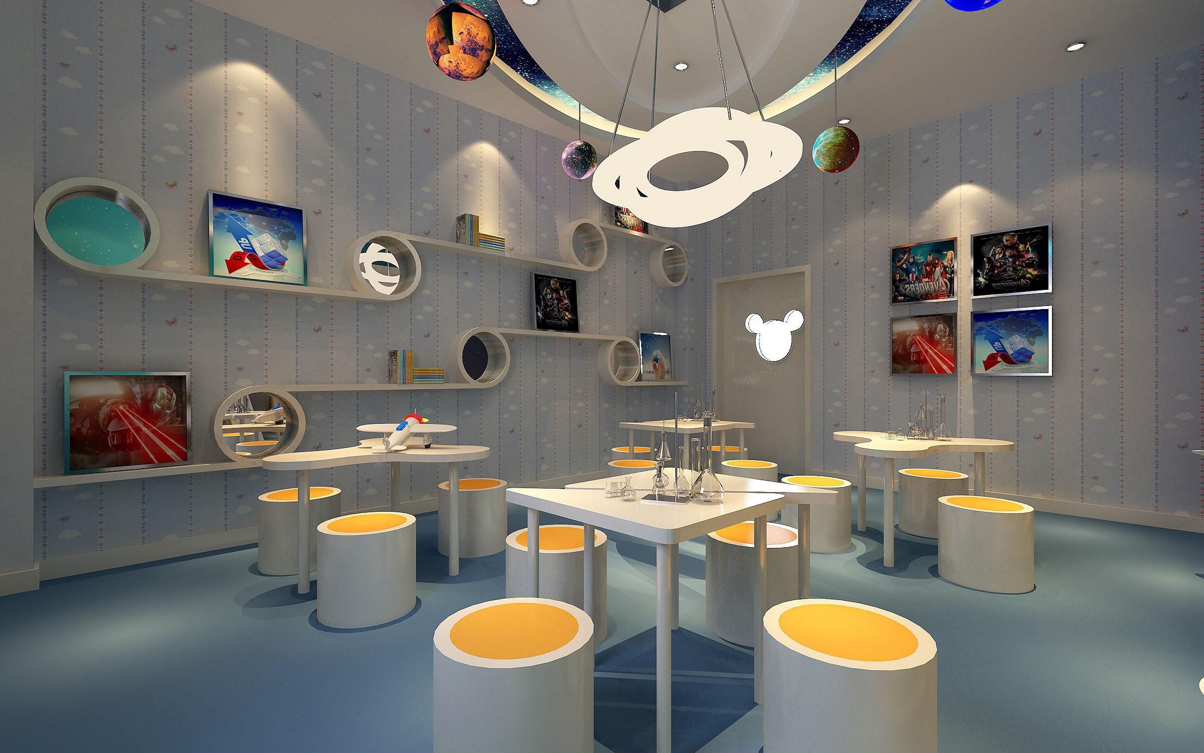 Kindergarten interior design image in 3d -  3d Interior Kindergarten Classroom Photo 23