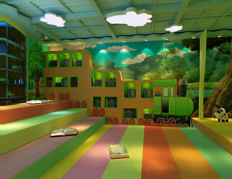 Kindergarten Classroom Design Pictures : D model kindergarten class classroom room design
