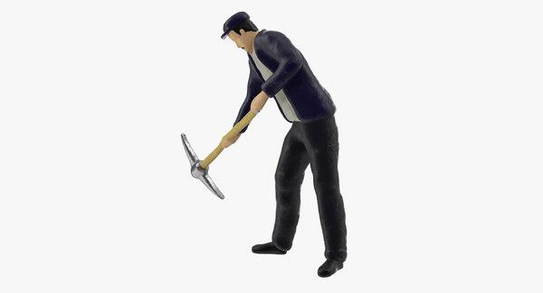 Miniature Man At Work 06 3D Models