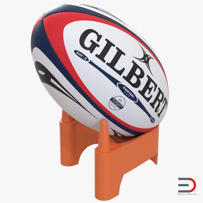 Rugby Ball Set 3d model 00.jpg